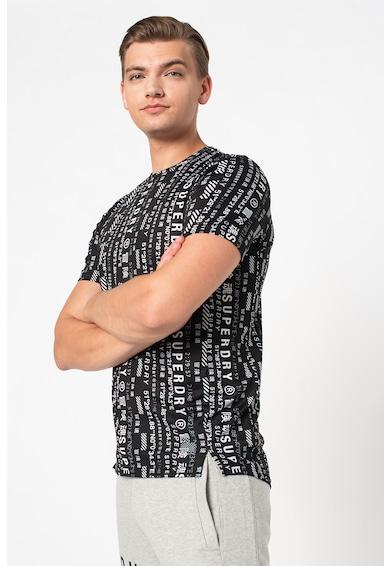 SUPERDRY Tricou relaxed fit cu imprimeu pentru antrenament Barbati