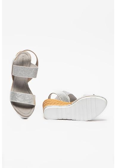 Marco Tozzi Sandale din piele ecologica cu talpa wedge Femei
