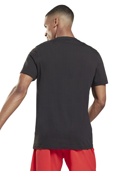 Reebok Tricou din bumbac cu logo Barbati