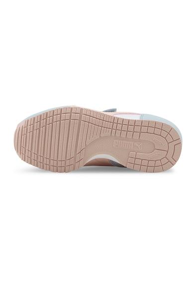 Puma Pantofi sport cu garnituri din piele ecologica si piele intoarsa Cabana Racer Fete