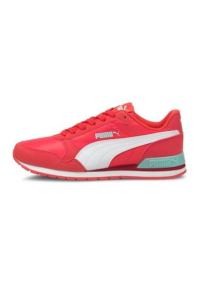Puma Pantofi sport cu garnituri de piele ecologica ST Runner V2 Fete