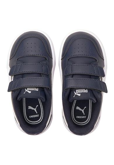 Puma Pantofi sport din piele ecologica cu inchidere velcro Shuffle V Baieti