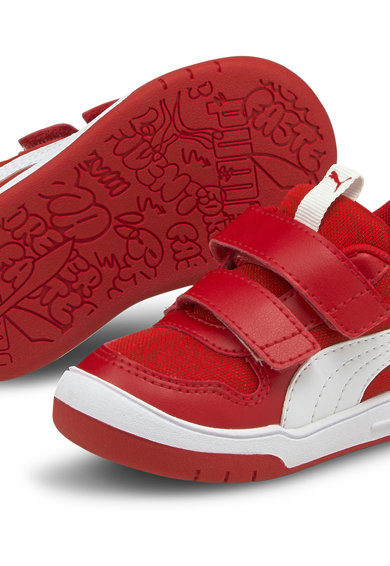 Puma Pantofi sport din plasa si piele ecologica cu inchidere velcro Multiflex Baieti