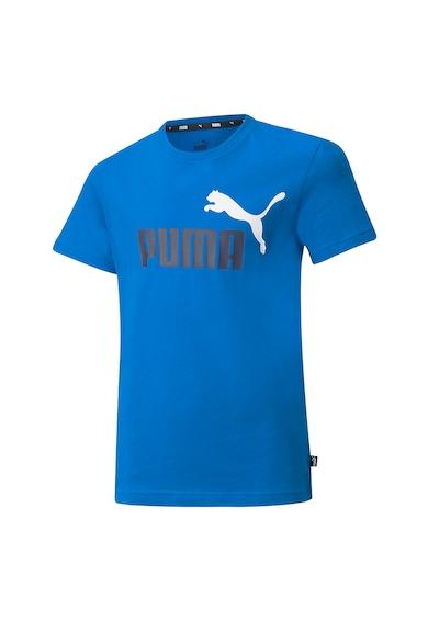 Puma Tricou cu decolteu la baza gatului, baieti, Essentials+ 2, imprimeu logo Baieti