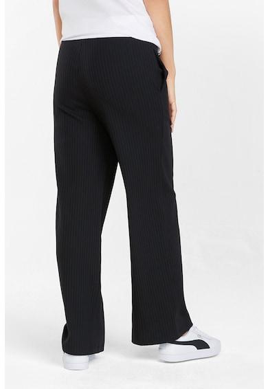 Puma Pantaloni din amestec de bumbac cu aspect striat si croiala ampla Femei