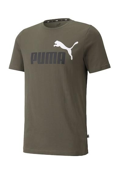 Puma Tricou cu imprimeu logo si decolteu la baza gatului Essentials +2 Colour Barbati