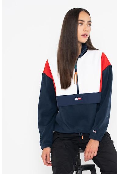 Tommy Jeans Bluza sport din fleece cu model colorblock Femei