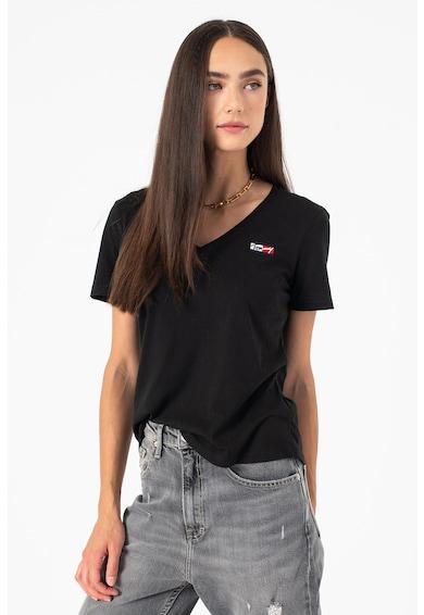 Tommy Jeans Tricou slim fit de bumbac organic Femei