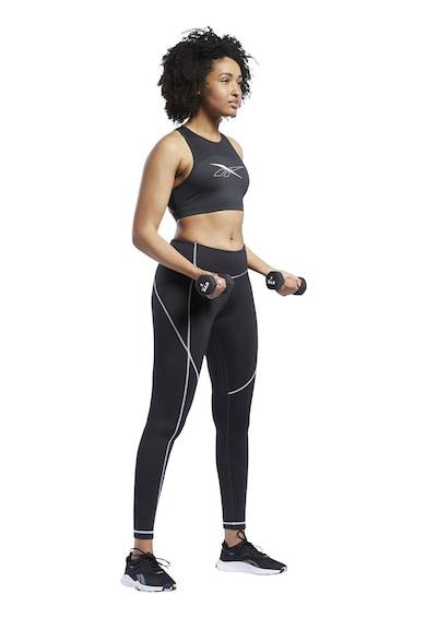 Reebok Bustiera cu segmente de plasa, pentru fitness Femei