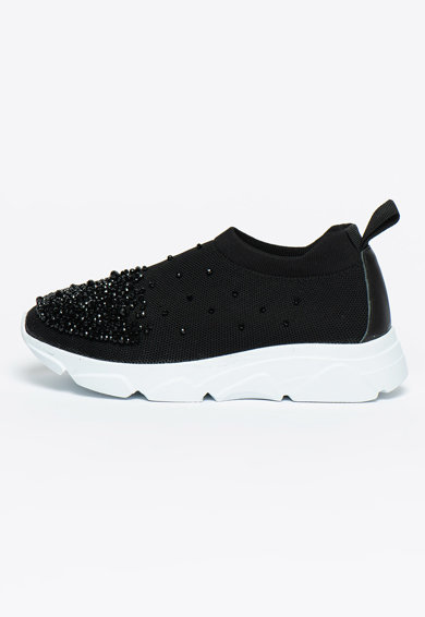 Bigiotto's Shoes Pantofi sport slip-on cu strasuri Femei