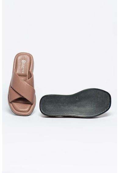 Bigiotto's Shoes Papuci de piele cu barete incrucisate Femei