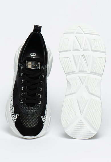 Bigiotto's Shoes Pantofi sport cu aspect masiv si insertii de plasa Barbati