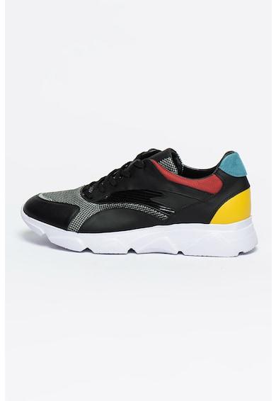 Bigiotto's Shoes Pantofi sport cu detalii de piele Barbati