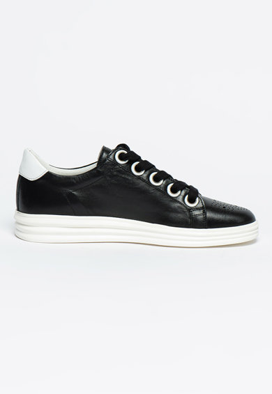 Bigiotto's Shoes Pantofi sport de piele cu perforatii si model uni Barbati