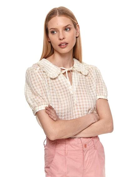 Top Secret Bluza cu maneci scurte si model in carouri Femei