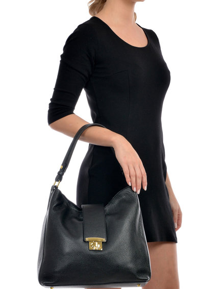 Luisa Vannini Geanta de piele cu bareta de umar si aspect texturat Femei