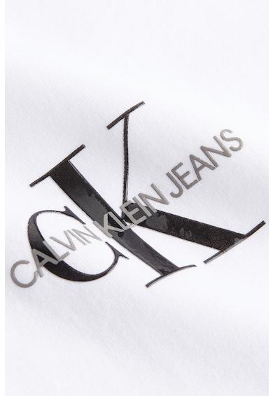 CALVIN KLEIN JEANS Tricou de bumbac organic cu decolteu la baza gatului si detaliu innodat Femei