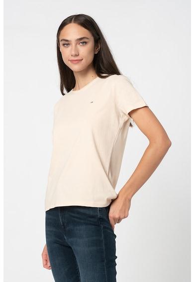 Tommy Jeans Tricou de bumbac organic cu logo brodat Femei