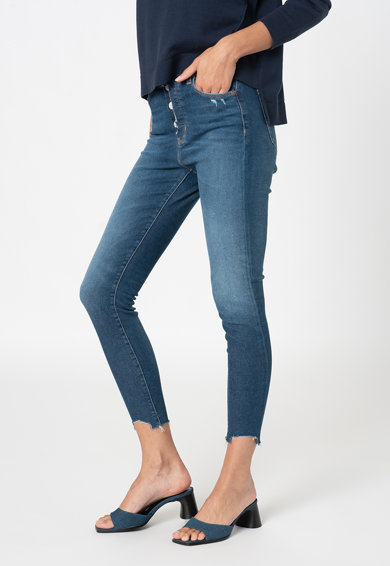 Tommy Jeans Blugi crop skinny cu nasturi Sylvia Femei