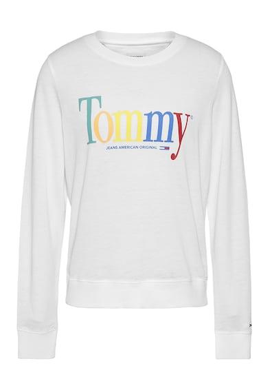 Tommy Jeans Bluza sport de bumbac si modal cu imprimeu logo Femei