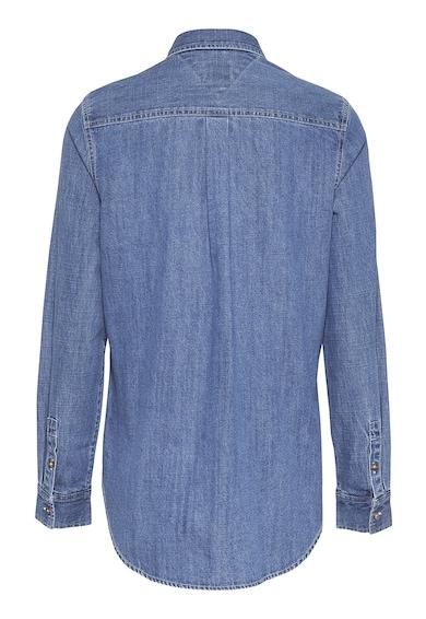 Tommy Jeans Camasa din denim cu buzunar pe piept Femei