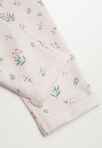 Mango Pantaloni sport de bumbac cu imprimeu floral Florap Fete