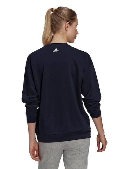 adidas Performance Bluza sport cu maneci cazute si imprimeu logo Femei
