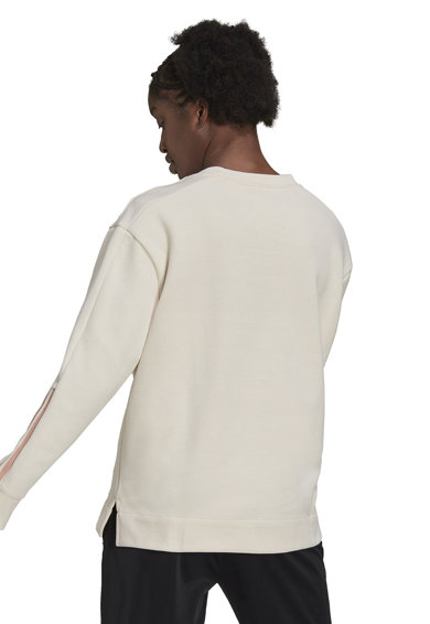 adidas Performance Bluza sport cu decolteu rotund si imprimeu logo Femei