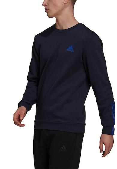 adidas Performance Bluza sport din amestec de bumbac cu decolteu la baza gatului Barbati
