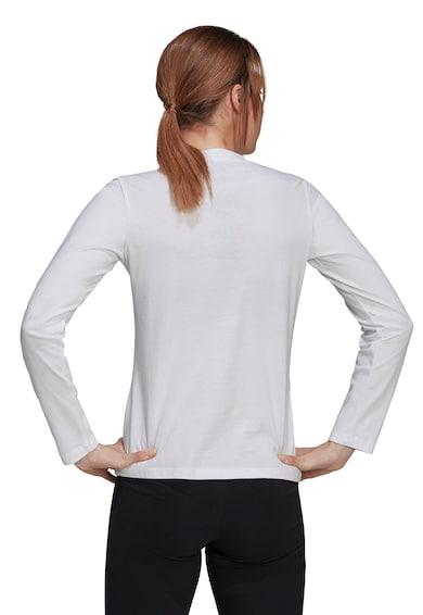 adidas Performance Bluza de bumbac cu decolteu la baza gatului si imprimeu Femei