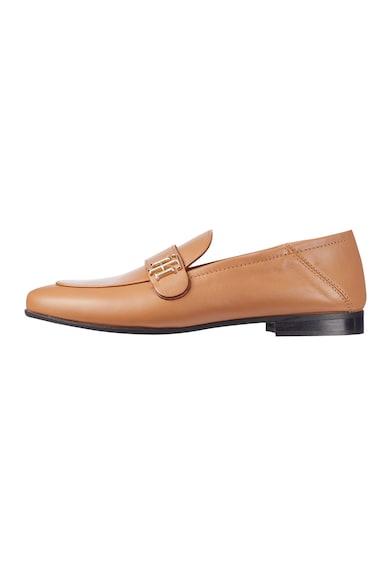 Tommy Hilfiger Pantofi loafer de piele cu detaliu cu model monograma Femei
