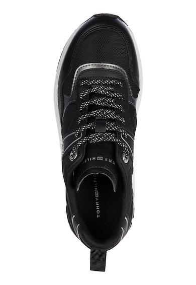 Tommy Hilfiger Pantofi sport cu talpa wedge si detaliu cu model monograma Femei