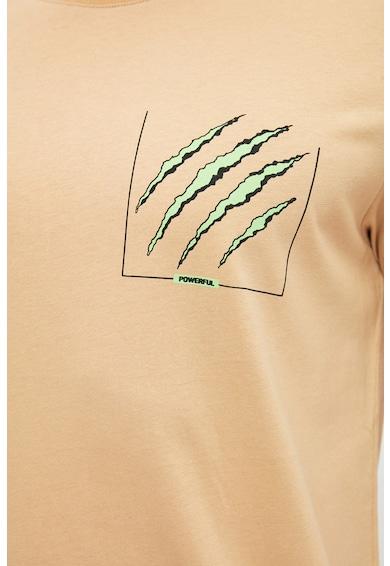 Trendyol Tricou regular fit cu imprimeu grafic Barbati