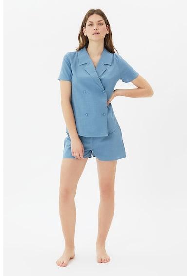 Trendyol Pijama cu pantaloni scurti si doua randuri de nasturi Femei