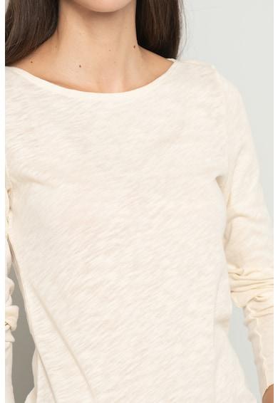 Marc O'Polo Bluza de bumbac organic cu decolteu barcuta Femei