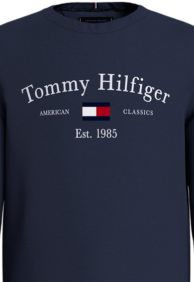 Tommy Hilfiger Bluza sport de bumbac organic cu logo Baieti