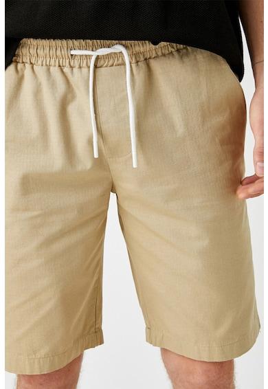 KOTON Pantaloni scurti de bumbac cu snur Barbati