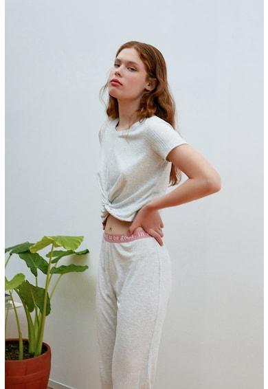 Penti Tricou crop de pijama cu aspect rasucit Femei