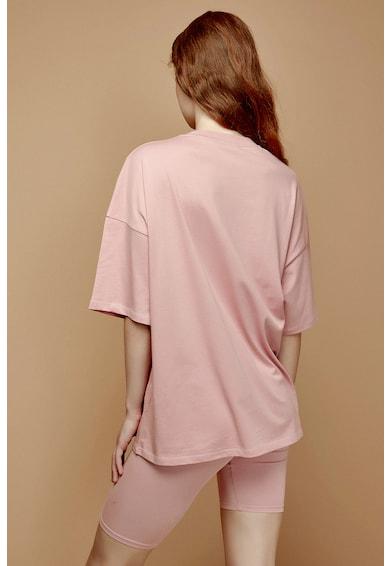 Penti Pijama cu pantaloni scurti din amestec de bumbac cu imprimeu text Femei