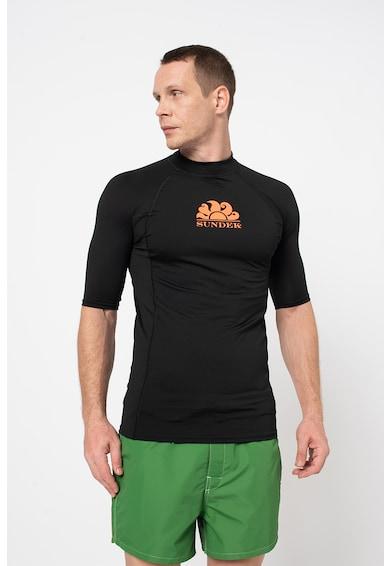 Sundek Tricou cu imprimeu logo si maneci raglan Rash Guard Barbati