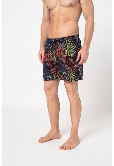 Sundek Trópusi mintás fürdőnadrág húzózsinórral férfi