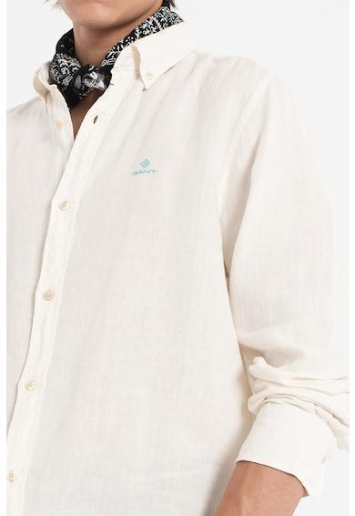 Gant Camasa din in cu broderie logo Barbati