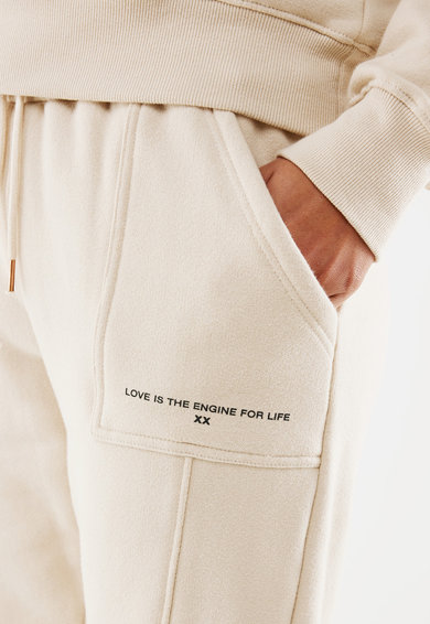Mexx Pantaloni sport din amestec de bumbac cu imprimeu logo Femei