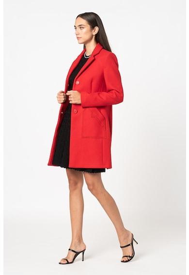 Love Moschino Palton din amestec de lana cu revere decupate Femei