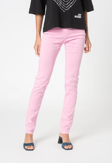 Love Moschino Pantaloni skinny din amestec de lyocell Femei