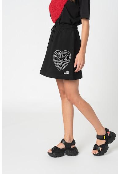 Love Moschino Fusta mini de jerseu cu snur Femei