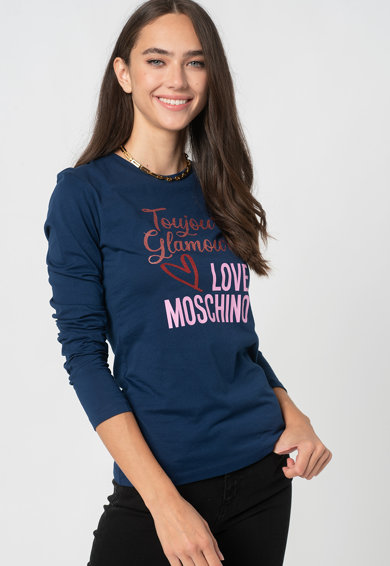 Love Moschino Bluza cu imprimeu text Femei
