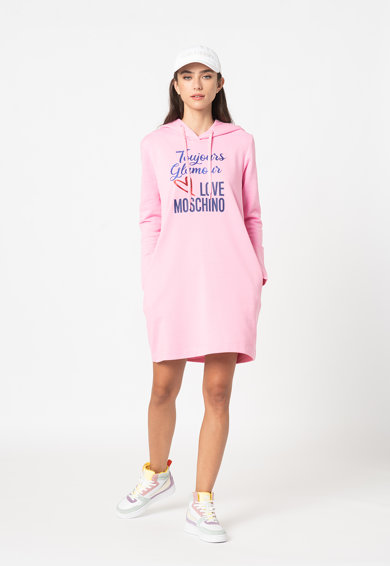 Love Moschino Rochie hanorac cu imprimeu Femei