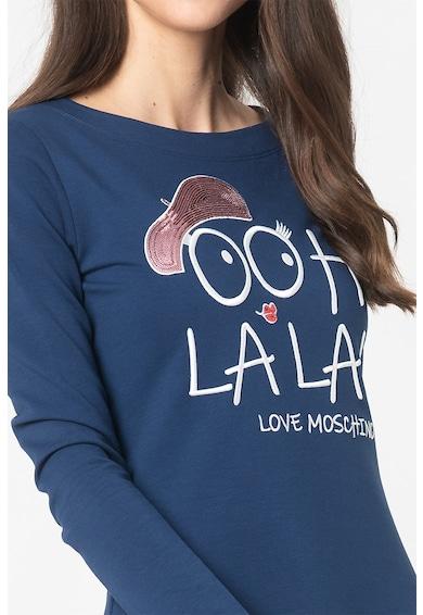 Love Moschino Rochie mini evazata cu imprimeu Femei