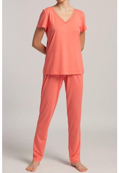 Sofiaman Pijama din amestec de modal cu insertii de dantela Danielle Femei